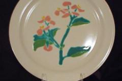 bird_pottery_begonia_dinner_plate