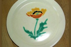 bird_pottery_desert_poppy_bread_and_butter_plate