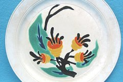 bird_pottery_eucalyptus_luncheon_plate