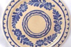 bird_pottery_olinala_aztec_luncheon_plate_in_blue