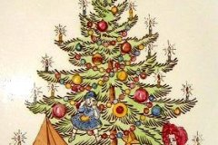 christmas_tree_chop_plate_12_inch_detail