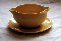 early_california_double_spout_sauce_boat_in_yellow