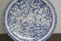hawaiian_flowers_blue_12_inch_chop_plate