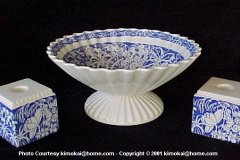 hawaiian_flowers_blue_bennison_dayrae_bowl_and_rectangular_single_light_candle_holders