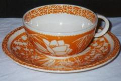 hawaiian_flowers_orange_cup_and_saucer