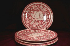 hawaiian_flowers_pink_bread_and_butter_plates
