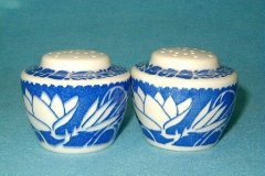 hawaiian_flowers_salt_and_pepper_shakers_in_blue